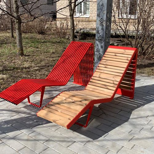 bain de soleil contemporain / en acier galvanisé / pour hôtel / pour espace public