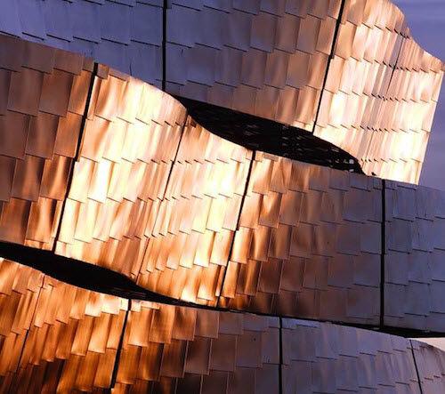 parement en acier inoxydable / en acier galvanisé / pour façade / intérieur