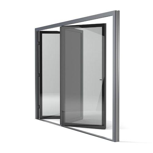 baie vitrée coulissante / pliante / en aluminium / à triple vitrage