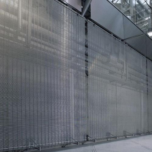 panneau décoratif en maille métallique / pour agencement intérieur / aspect métal / transparent