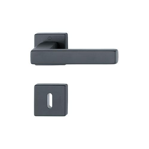 poignée de porte / en aluminium / contemporaine / avec serrure intégrée