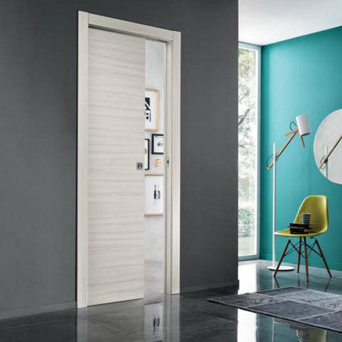 porte d'intérieur / coulissante / en bois / double vantaux
