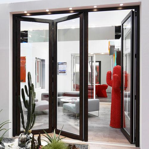porte d'intérieur / pliante / en aluminium / à coupure thermique