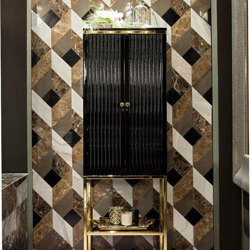 Meuble colonne de salle de bain / Art Déco - ACADEMY - Oasis Group ...