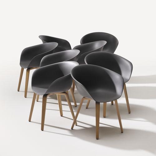 chaise visiteur contemporaine - Arper