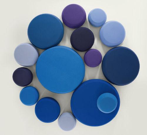 Pouf contemporain / en tissu / en cuir / rond PIX by Ichiro Iwasaki Arper