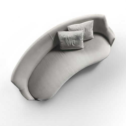 canapé en arc de cercle / contemporain / en tissu / en cuir