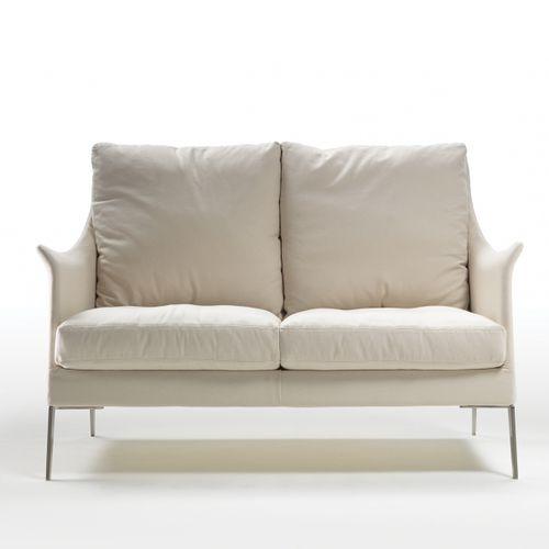 canapé compact / contemporain / en tissu / en cuir