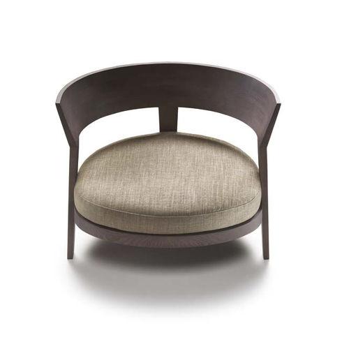 fauteuil contemporain / en tissu / en cuir / en bois massif