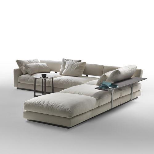 canapé modulable / d'angle / contemporain / en tissu