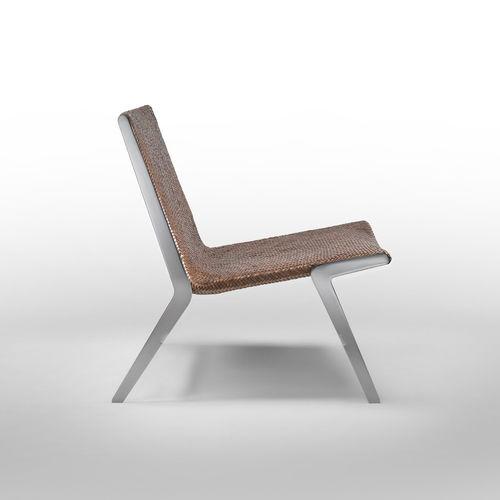 chauffeuse contemporaine / en cuir / en métal / par Antonio Citterio