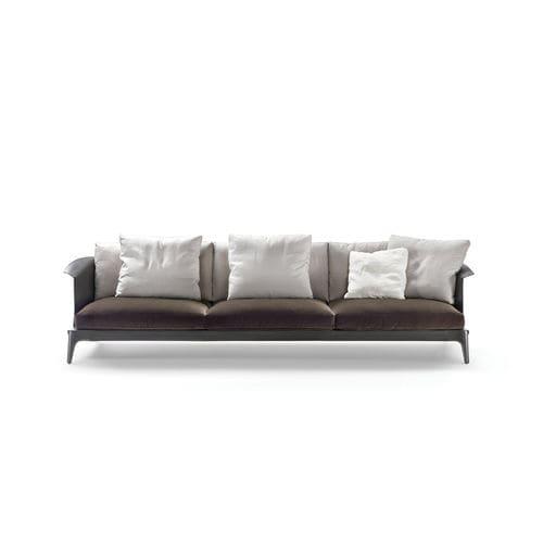 canapé contemporain / en tissu / en cuir / contract