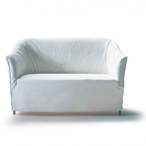 canapé classique / en cuir / en tissu / 2 places