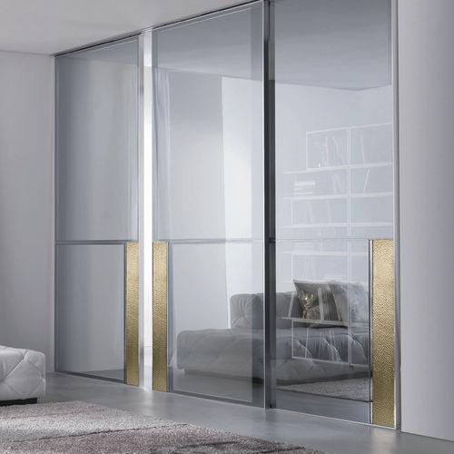 porte d'intérieur / coulissante / en verre / en aluminium