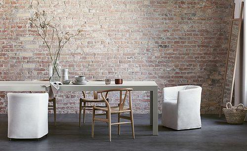 table contemporaine / en bois / rectangulaire / blanche