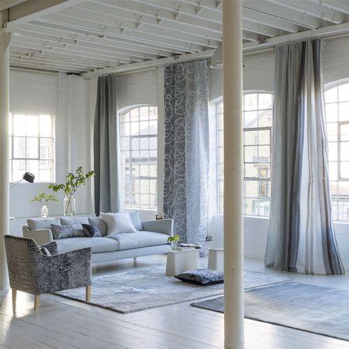 Tissu d\'ameublement / pour rideaux / à motif / en coton ...