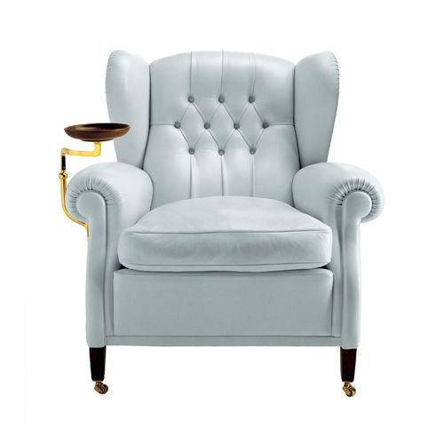 fauteuil classique / en toile / en cuir / à roulettes