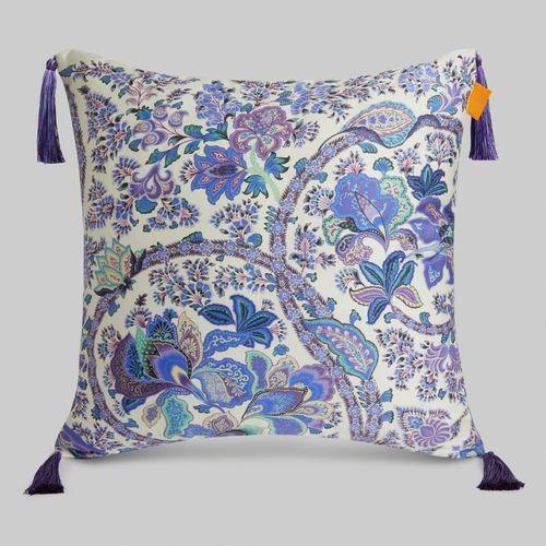 coussin carré / à motif floral / en lin / en coton