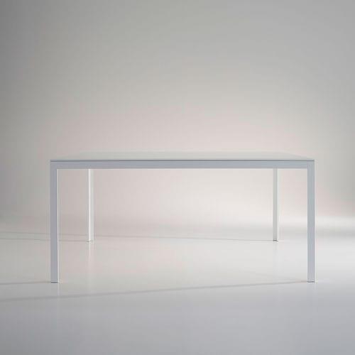 table contemporaine / en verre / en bois / en marbre