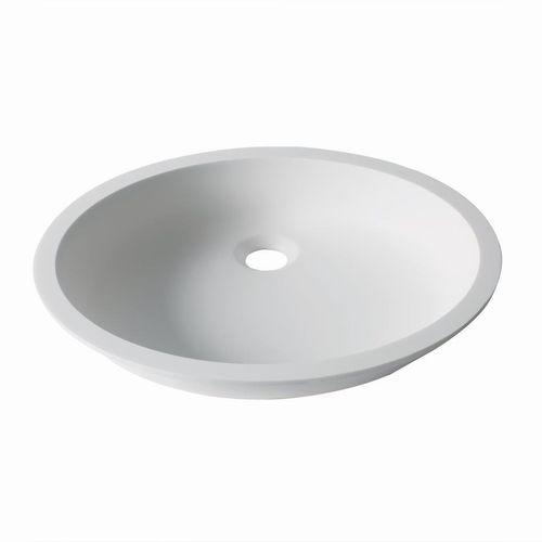 Vasque sous plan / ovale / en Krion® / contemporaine D401 43X35 1100 E SYSTEMPOOL -  KRION® Porcelanosa Solid Surface