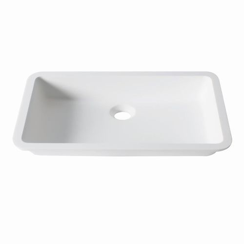 Vasque sous plan / rectangulaire / en Krion® / contemporaine D801 48x28 1100 E SYSTEMPOOL -  KRION® Porcelanosa Solid Surface