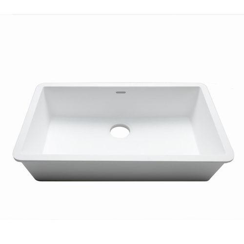 Évier 1 bac / en Krion® / professionnel C824 70X40 E SYSTEMPOOL -  KRION® Porcelanosa Solid Surface