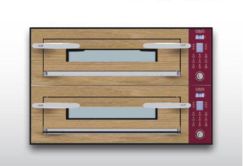 Four électrique / professionnel / à pizza / 2 chambres OPTYMO CONCEPT: 435/2 WOOD OEM - Pizza System