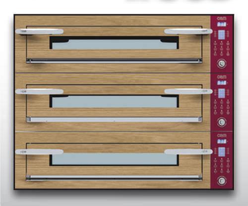 Four électrique / à usage professionnel / à pizza / 3 chambres OPTYMO CONCEPT: 635L/3 WOOD OEM - Pizza System
