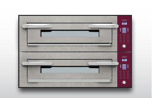 Four électrique / professionnel / à pizza / 2 chambres OPTYMO CONCEPT: 635S/2 CEMENT OEM - Pizza System