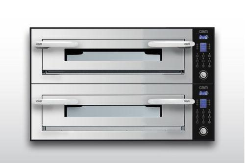 Four électrique / à usage professionnel / mixte / 2 chambres OPTYMO CONCEPT: 635S/2 INOX OEM - Pizza System