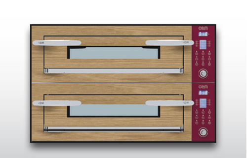 Four électrique / professionnel / à pizza / 2 chambres OPTYMO CONCEPT: 635S/2 WOOD OEM - Pizza System
