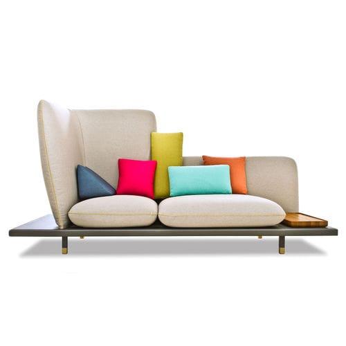 canapé design original / en cuir / en tissu / 3 places