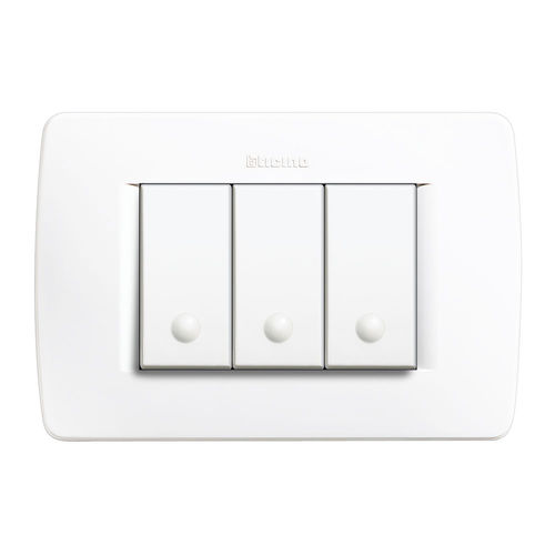 interrupteur bouton poussoir / triple / contemporain