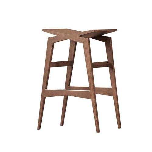 chaise de bar contemporaine / en frêne / pour espace public