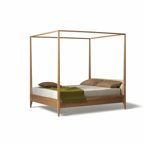 lit à baldaquin / double / contemporain / avec tête de lit tapissée