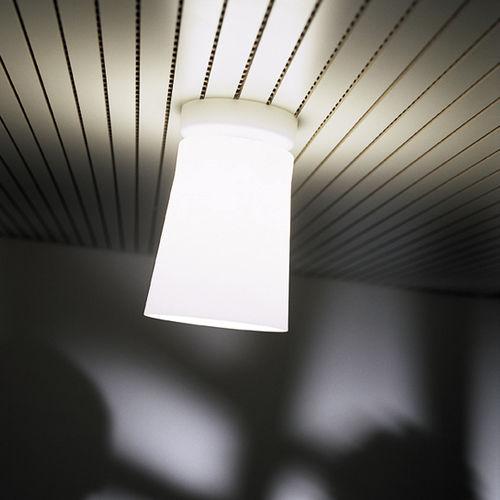 plafonnier contemporain / en verre soufflé / fluorescent / blanc