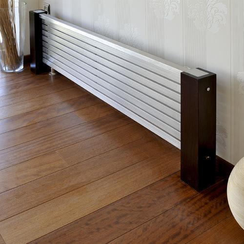 radiateur à eau chaude / en inox / contemporain / horizontal