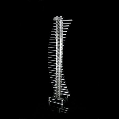 radiateur électrique / en inox / design original / vertical