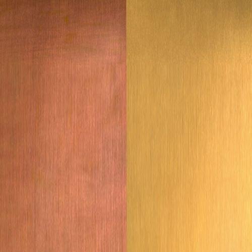 tôle métallique décorative / en cuivre / pour bardage / pour toiture