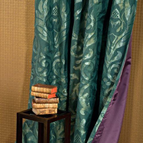 tissu d'ameublement / pour rideaux / baroque / en coton