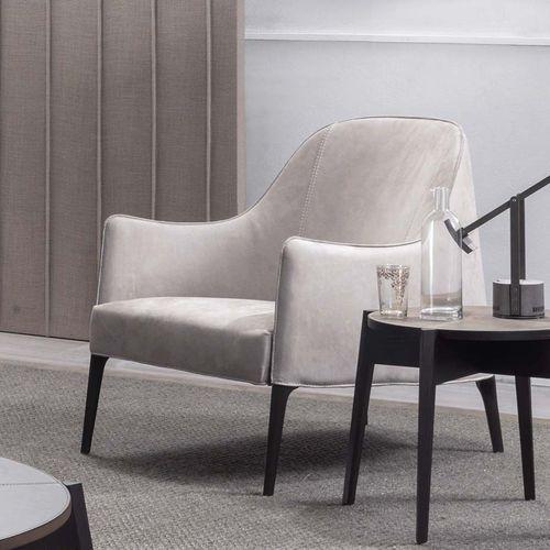 fauteuil contemporain / en tissu / bridge / blanc