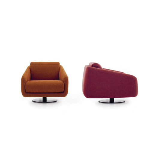 Fauteuil contemporain / en tissu / pivotant / contract CLASS by Studio Joe Colombo Ditre Italia