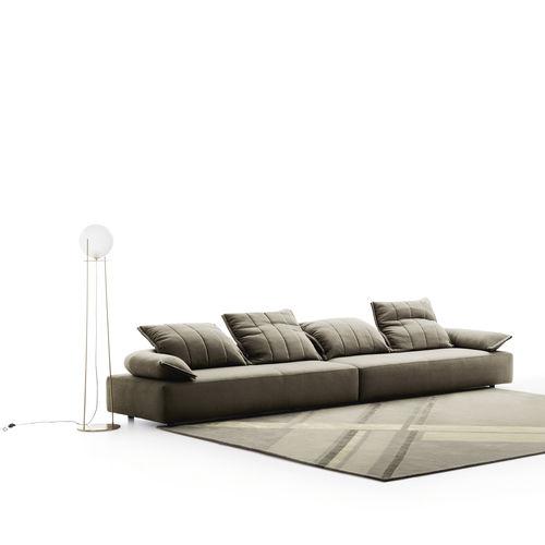 canapé modulable / contemporain / en tissu / inclinable