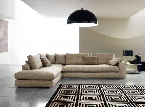 canapé d'angle / modulable / contemporain / en bois