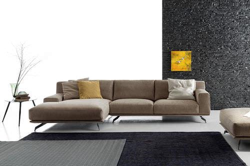 Canapé modulable / d'angle / contemporain / en cuir DALTON by Spessotto & Agnoletto Ditre Italia