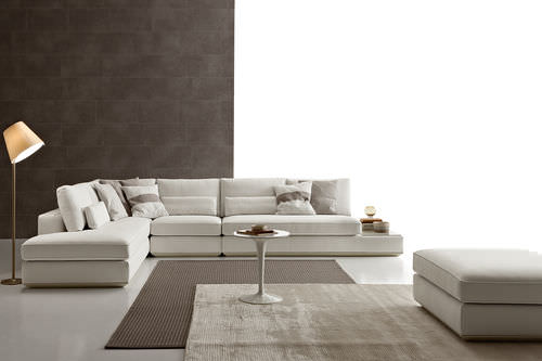 Canapé d'angle / modulable / contemporain / en cuir LOMAN by Spessotto & Agnoletto Ditre Italia