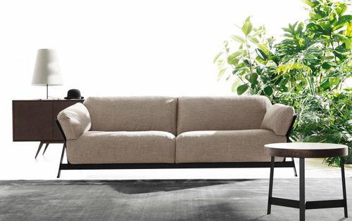 Canapé contemporain / en cuir / en tissu / 3 places KANAHA by Lo Scalzo Moscheri Ditre Italia