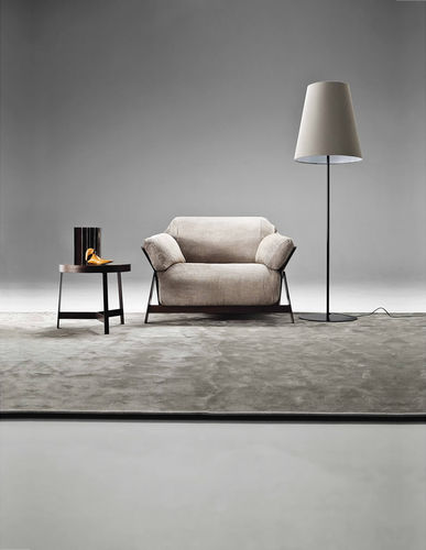 Fauteuil contemporain / en tissu / en cuir / en fer KANAHA by Lo Scalzo Moscheri Ditre Italia