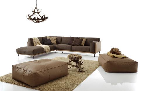 Canapé d'angle / contemporain / en cuir / en simili cuir KRIS MIX LOW by Spessotto & Agnoletto.  Ditre Italia