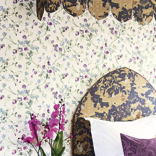 papier peint contemporain / à motif floral / non tissé / imprimé